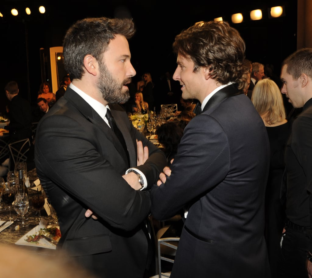 Bradley Cooper and Ben Affleck chatted during a break.