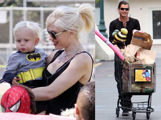 Pictures of Gwen Stefani, Gavin, Zuma, and Kingston Rossdale at a Party