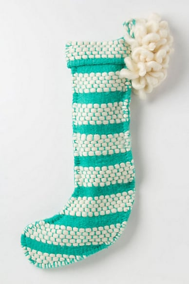Anthropologie Loomed & Looped Stocking