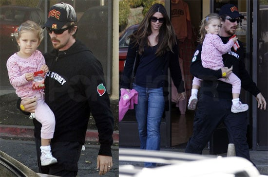 Photos of Christian Bale, Emmeline Bale, and Sibi Blazic