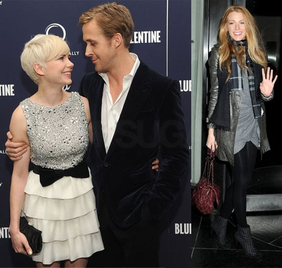 Ryan Gosling, Blake Lively, and Michelle Williams at NYC Blue Valentine Screening