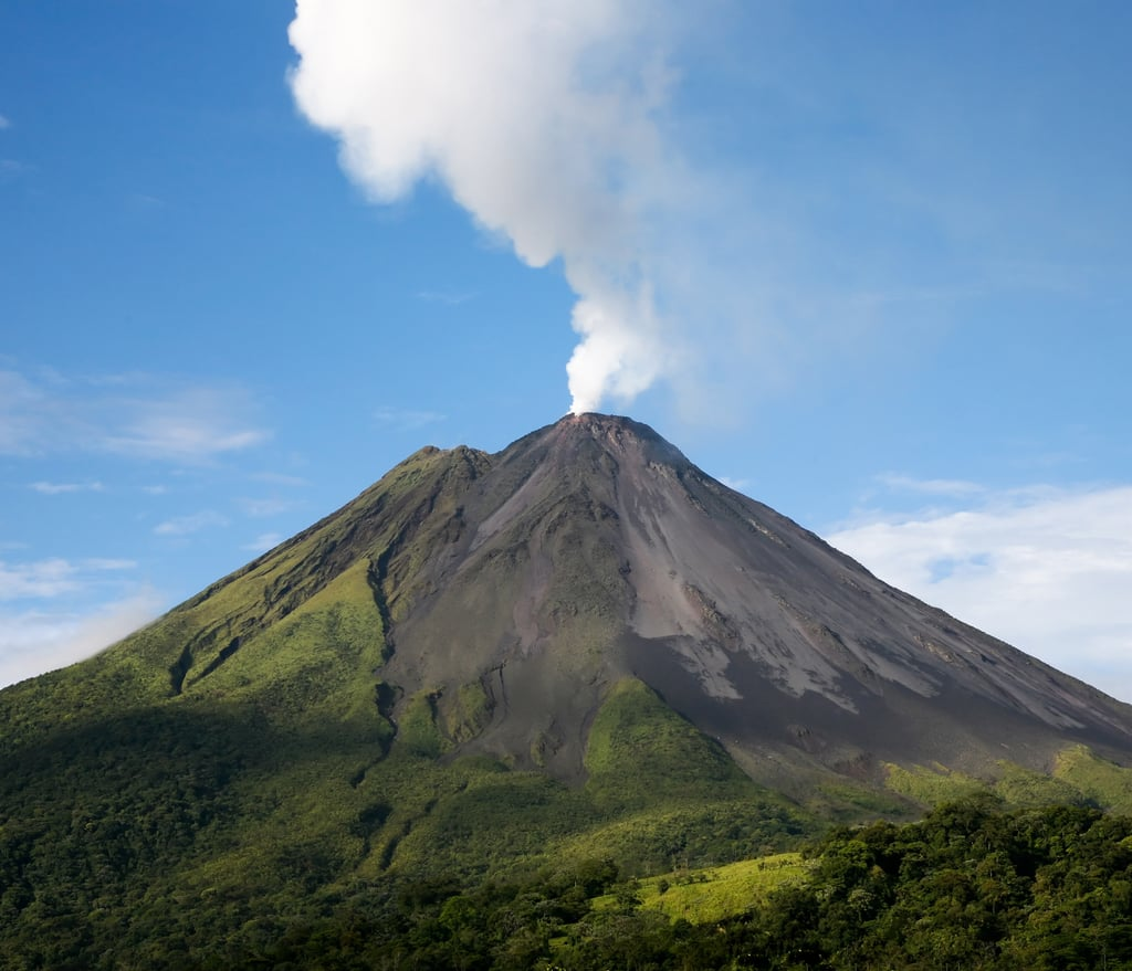 Helicopter Over a Volcano