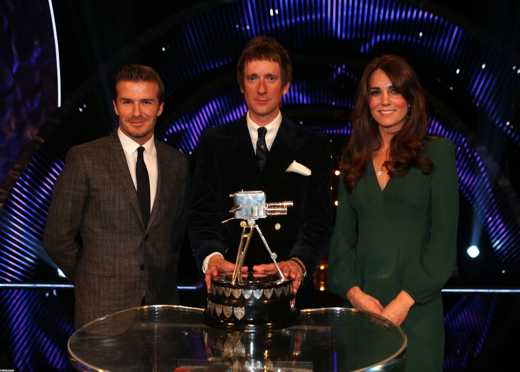 Kate Middleton and David Beckham posed for photos at the BBC Sporty Personality Of The Year Awards in London.