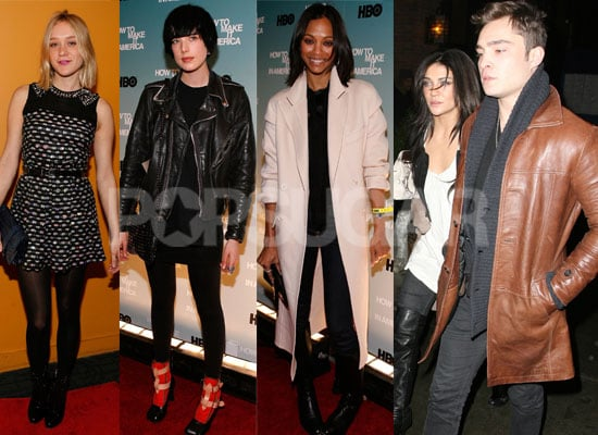 Photos of Ed Westwick, Jessica Szohr, Kirsten Dunst, Zoe Saldana, Chloe Sevigny and more at How to Make It in America Premiere