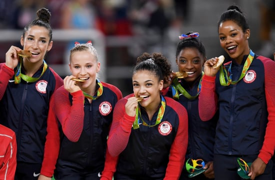 Simone Biles' Glitter Liner! Aly Raisman's Sleek Topknot! Here's How to Recreate the Olympians' Gorgeous Makeup Moves