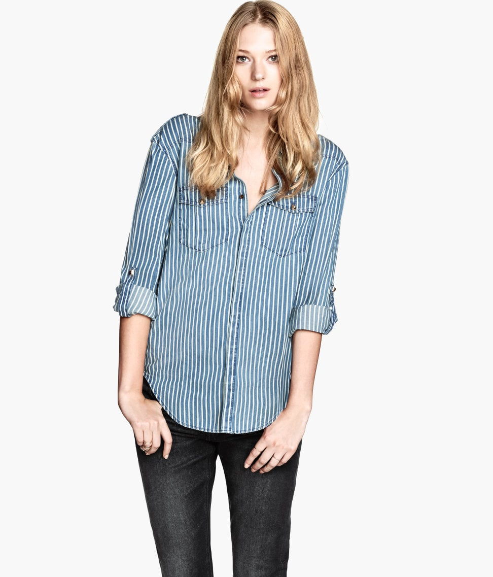 The studs and stripes make this H&M shirt ($30) worth adding to your denim wardrobe.