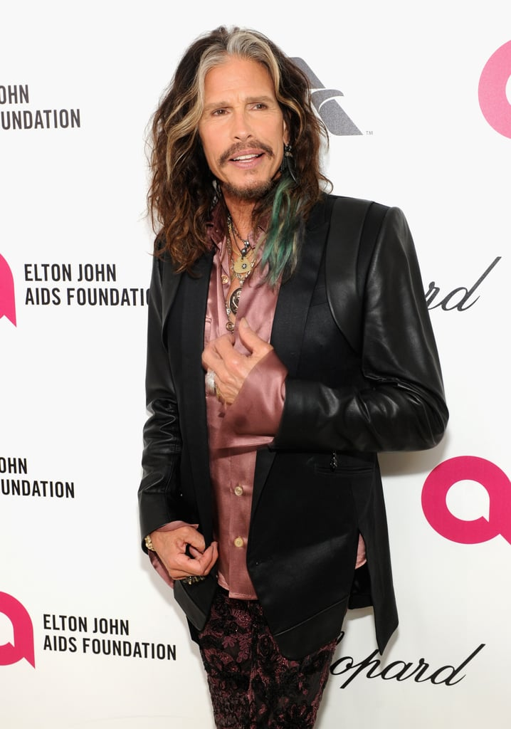 Steven Tyler wore a colorful ensemble.