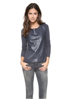 Get the leather look with this Bailey 44 top ($143, originally $191).