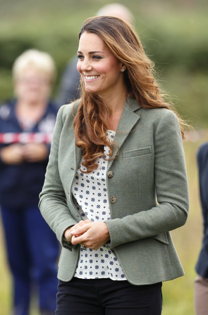 Kate Middleton stepped out for the first time since giving birth to Prince George to kick off a marathon in Wales, and she was simply glowing.