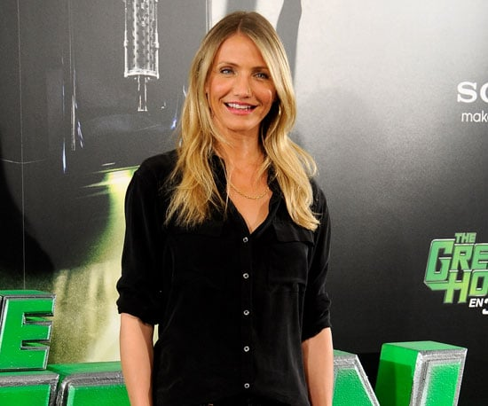 Slide Picture of Cameron Diaz Attending a Green Hornet Photo Call in Madrid