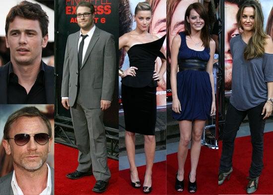 Photos From The LA Premiere of Pineapple Express, including James Franco, Seth Rogen, Jim Carrey, Daniel Craig, Kanye West etc