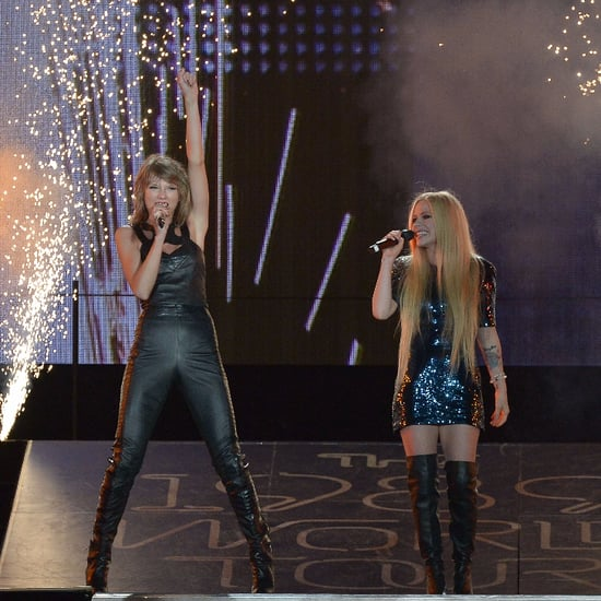 Avril Lavigne on Stage With Taylor Swift