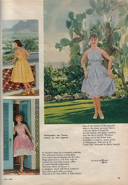 I'd wear one of these sweet Summer dresses.