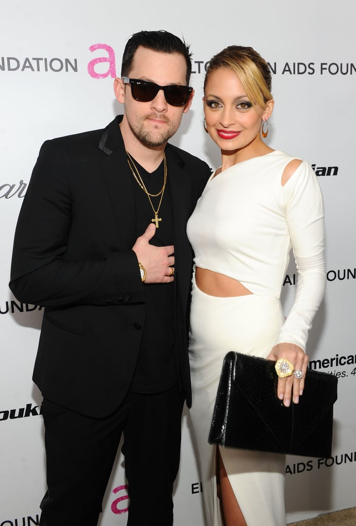 Nicole Richie and Joel Madden wore black and white for Elton John's annual party in February 2011.