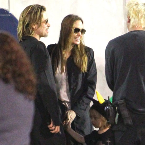 Brad and Angelina With Family at Cirque du Soleil Pictures
