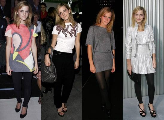 Emma Watson at Paris Fashion Week, Spring 2009, Celeb Style