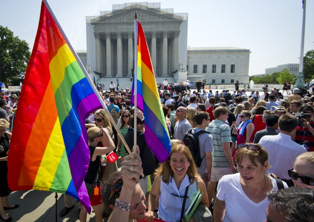 Rainbow flags took over Washington DC on Wednesday.