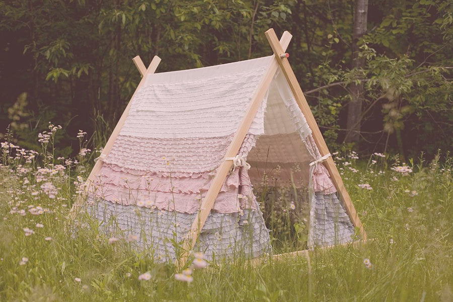 With ruffles galore, this could be the cutest tent yet! This girlie hideaway ($200) is made to order, so you can choose her favorite colors or match it to her playroom.