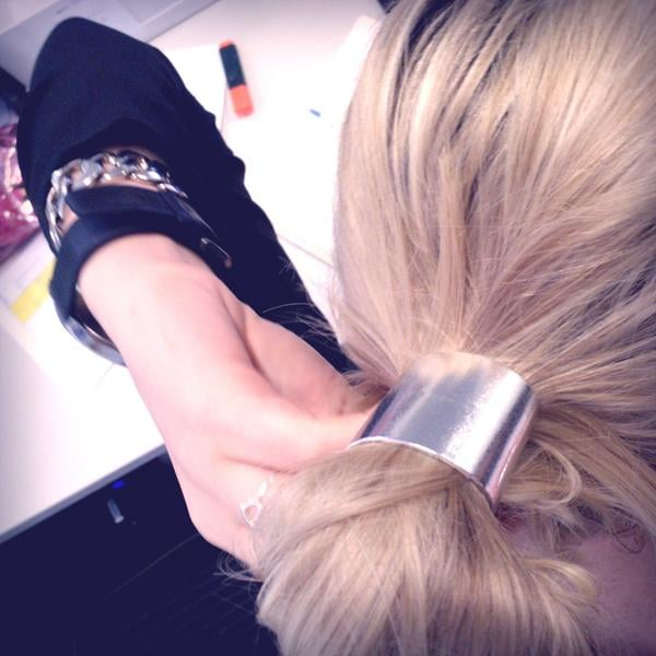 I picked up this new hair cuff from Lovisa — great for bad hair days!