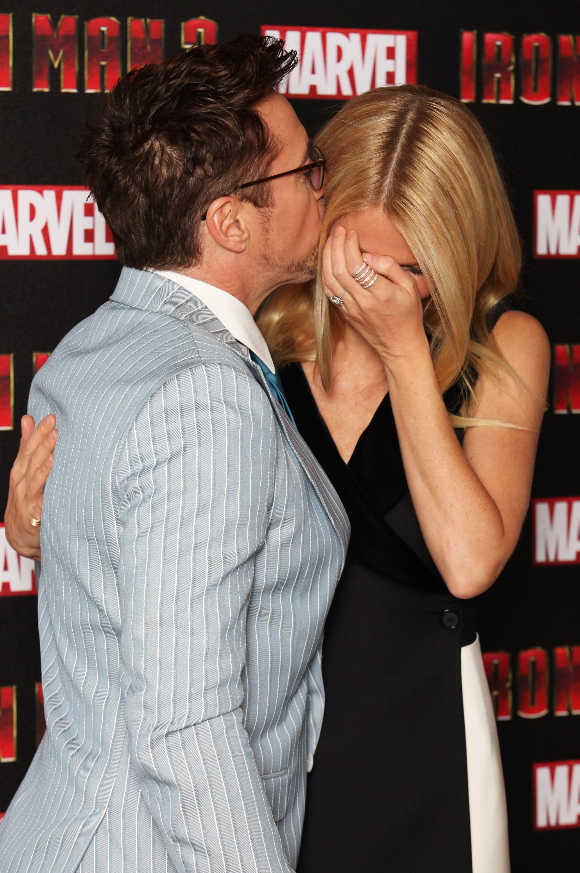 Gwyneth and RDJ Get Cute in the UK For Iron Man