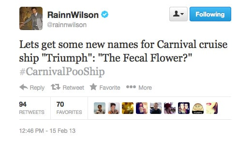 It didn't take long for funnyman Rainn Wilson to make light of a heavy situation!