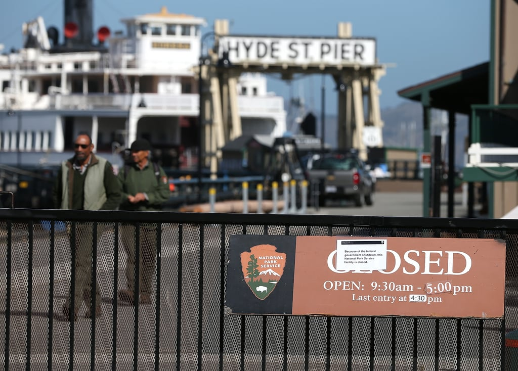 San Francisco's Maritime National Historical Park was closed because of the government shutdown.