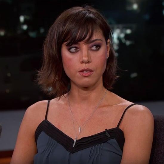 Aubrey Plaza on Jimmy Kimmel Live January 2016