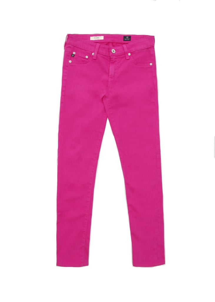 Embrace colored denim with these fun AG Adriano Goldschmied Fuchsia Stilt Jeans ($159). Not only are they made using processes free of toxic or cancer-causing chemicals, but 20 percent of proceeds from these jeans also support The Keep A Breast Foundation.