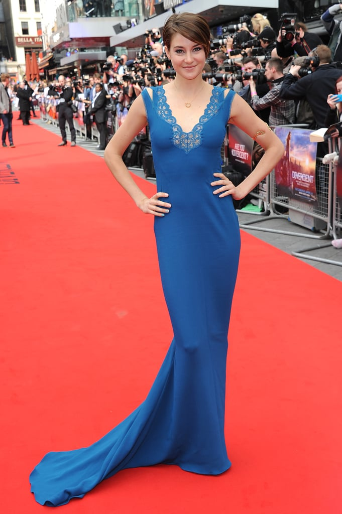 Shailene Woodley at the London Divergent Premiere
