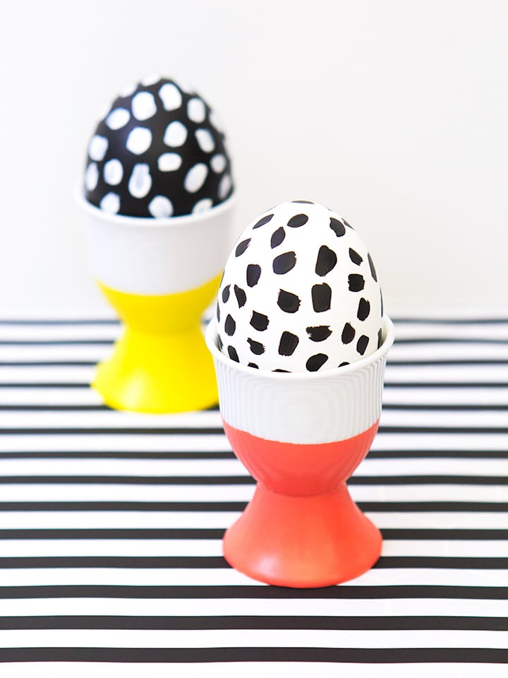 DIY Dipped Easter Egg Cups and Painted Eggs