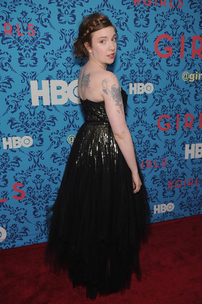 Creator Lena Dunham attended the premiere of HBO's Girls in NYC.