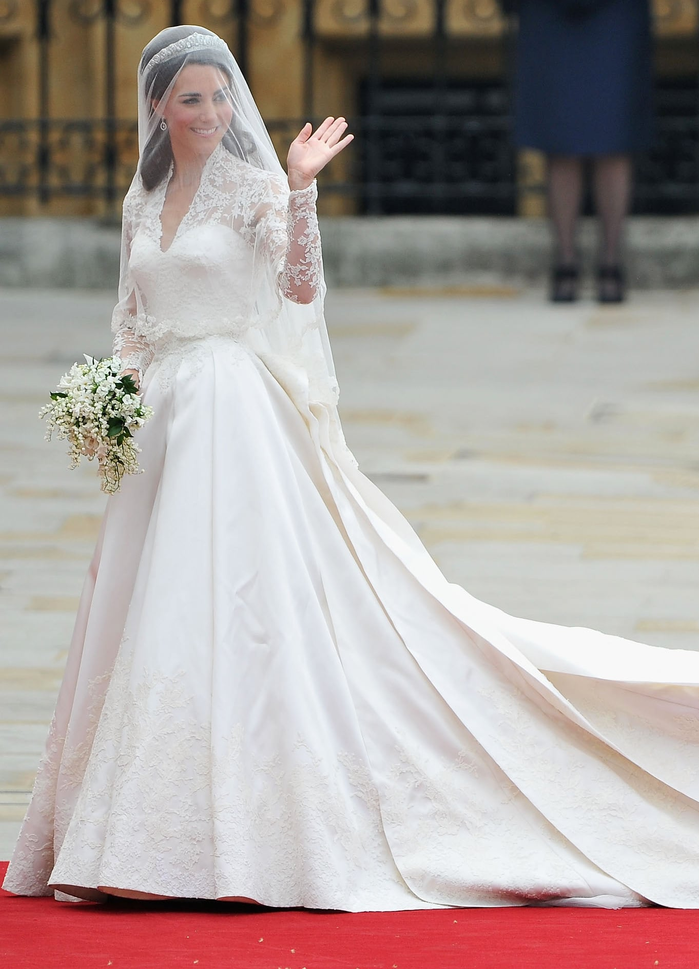 And arguably her most famous McQueen? The wedding gown that stunned the world.