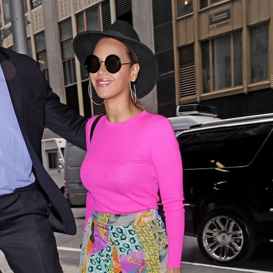 Beyonce Knowles Wearing Pink Pictures in NYC
