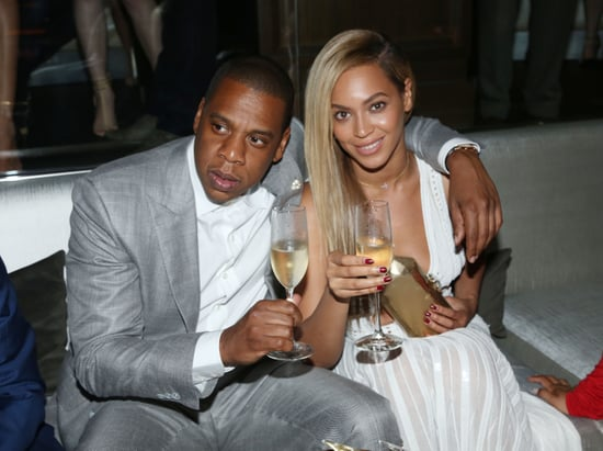 Beyoncé and Jay-Z sipped Champagne.