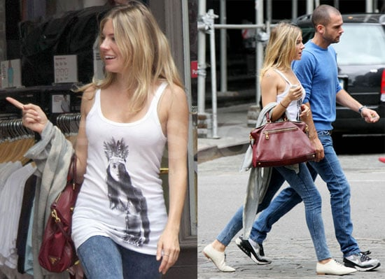 Photos of Sienna Miller Shopping at American Apparel