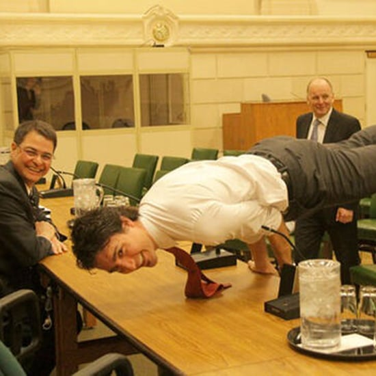 Justin Trudeau Doing Yoga Pose