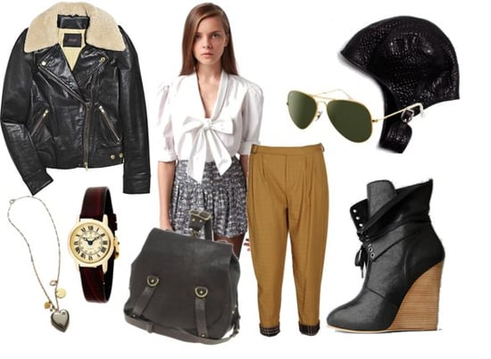 Aviator-Inspired Clothing for Fall 2010