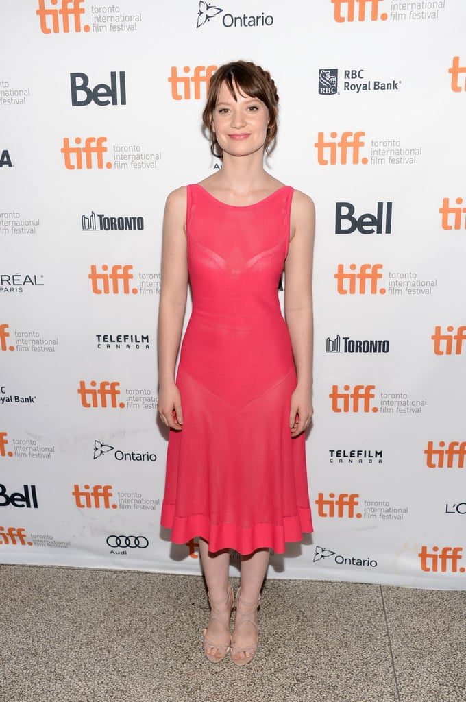 Mia Wasikowska stepped out for the Tracks premiere in Toronto.