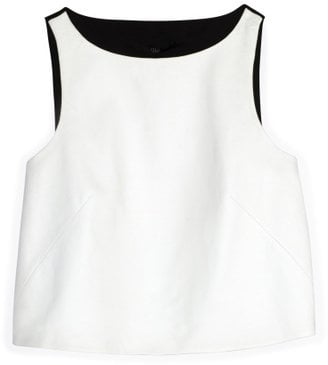 When I first laid eyes on this cropped Tibi top ($395), my mind was overflowing with all of the different outfits I could create. The white front leather panel is equal parts edgy and elegant, while the knit ponte back keeps it cool and casual. I'll pair it with high-waisted cutoffs and Converse for a sunny city stroll.  — MV