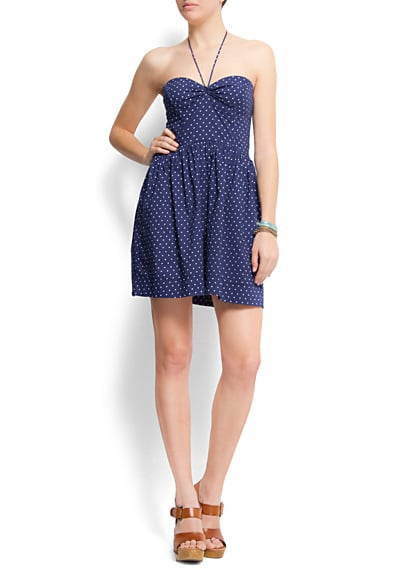 We love the slightly retro pinup quality; it's just the thing to pull out for an afternoon date.  Mango Polka Dots Bustier Dress ($50)