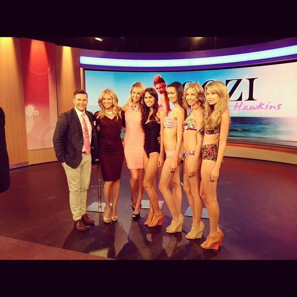 Jennifer Hawkins and models sporting her swimwear label, Cozi, made an appearance on Mornings. Source: Instagram user jenhawkins_