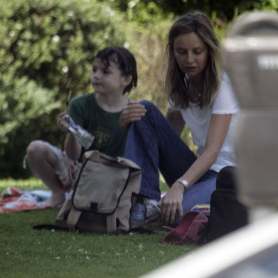 Calista and Liam Snack in the Park
