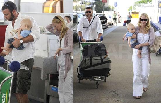 The Watts-Schreibers Keep on Jet Setting