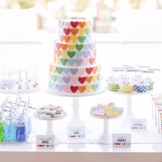 Rainbow-Heart Birthday Party