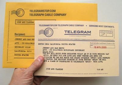 Website Telegram Stop Lets You Send Real Vintage Telegrams For Under Five Dollars