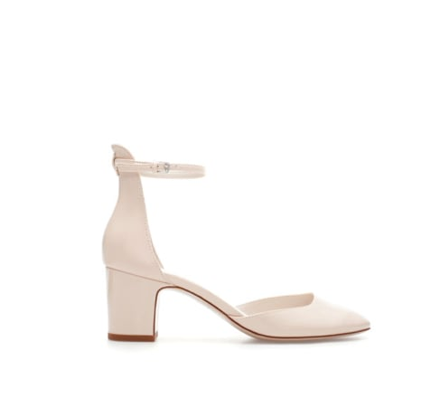 For the sophisticate, we've got a polished white option right here: Zara Vamp shoe ($50).