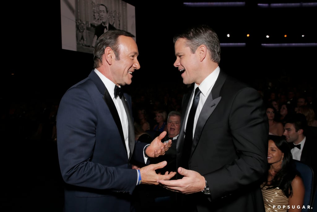 Kevin Spacey and Matt Damon chatted it up during the Emmys.