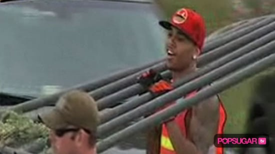 Video of Chris Brown Community Service