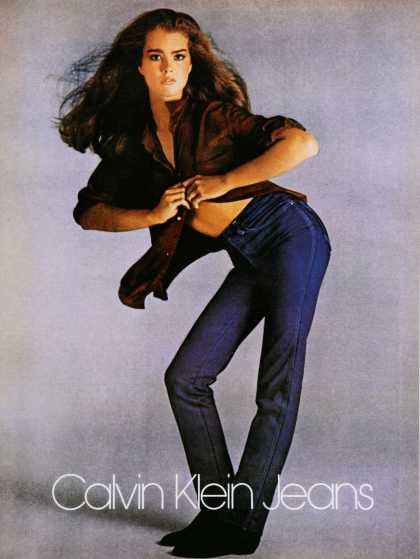 Little Brooke Shields made some waves in her Calvin Klein ads.