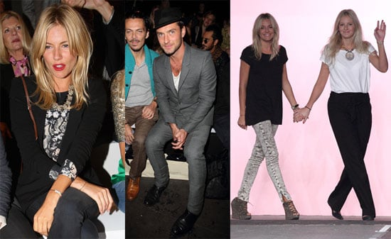 Pictures of Sienna Miller and Jude Law at London Fashion Week